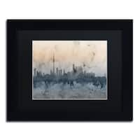 Michael Tompsett 'Toronto Canada Skyline V' Black Matte, Black Framed Canvas Wall Art