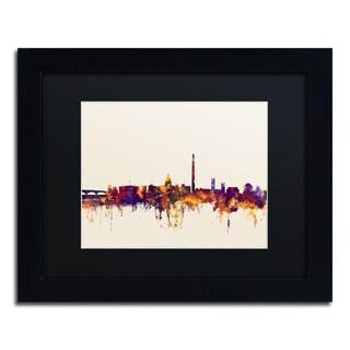 Michael Tompsett 'Washington DC Skyline V' Black Matte, Black Framed Canvas Wall Art