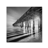Moises Levy 'Pier and Shadows' Canvas Wall Art