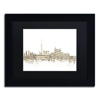 Michael Tompsett 'Toronto Skyline Sheet Music II' Black Matte, Black Framed Canvas Wall Art