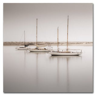 Moises Levy 'Three Boats' Canvas Wall Art