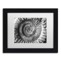 Moises Levy 'Amonita 2' White Matte, Black Framed Canvas Wall Art