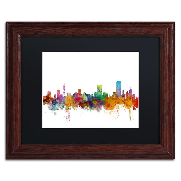 Shop Michael Tompsett Pretoria South Africa Skyline Black Matte
