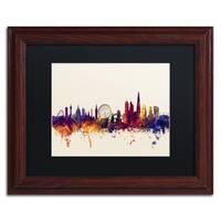 Michael Tompsett 'London England Skyline III' Black Matte, Wood Framed Canvas Wall Art