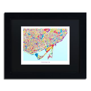 Michael Tompsett 'Toronto Street Map III' Black Matte, Black Framed Canvas Wall Art