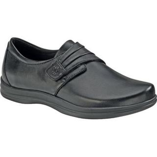 Women's Apex Linda Classic Monk Strap Black Full Grain Leather