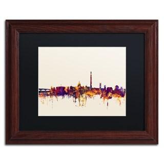 Michael Tompsett 'Washington DC Skyline V' Black Matte, Wood Framed Canvas Wall Art