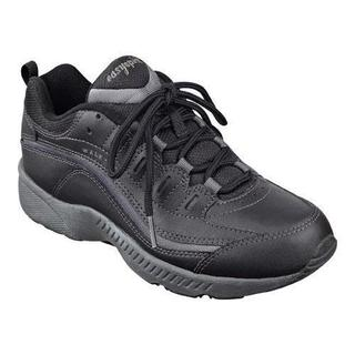 Women's Easy Spirit Romy Walking Shoe Black/Dark Grey Leather (More options  available)
