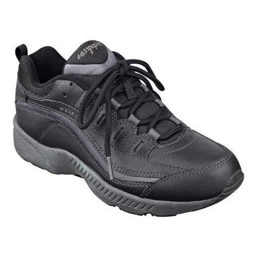 cf8f20058 Shop Women s Easy Spirit Romy Walking Shoe Black Dark Grey Leather - Free  Shipping Today - Overstock - 10794243
