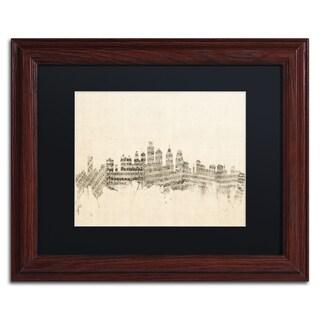 Michael Tompsett 'Philadelphia Sheet Music II' Black Matte, Wood Framed Canvas Wall Art