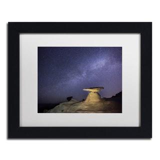 Moises Levy 'Starry Night in Arizona III' White Matte, Black Framed Canvas Wall Art