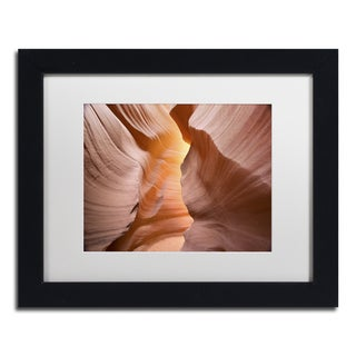Moises Levy 'Welcome III' White Matte, Black Framed Canvas Wall Art