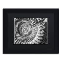 Moises Levy 'Amonita 1' Black Matte, Black Framed Canvas Wall Art