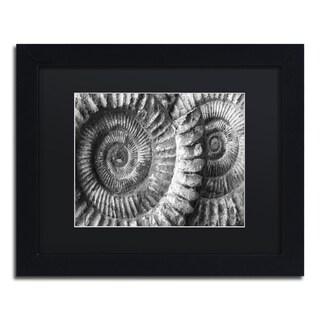 Moises Levy 'Amonita 3' Black Matte, Black Framed Canvas Wall Art