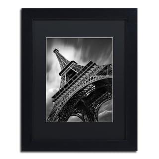 Moises Levy 'Eiffel Tower Study II' Black Matte, Black Framed Canvas Wall Art