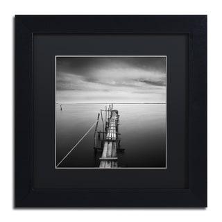 Moises Levy 'Direction' Black Matte, Black Framed Canvas Wall Art