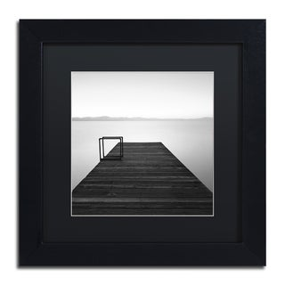 Moises Levy 'Cube' Black Matte, Black Framed Canvas Wall Art