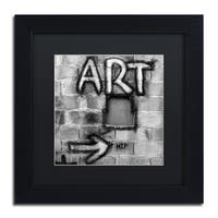 Moises Levy 'Art' Black Matte, Black Framed Canvas Wall Art
