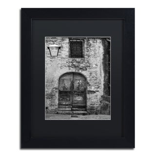 Moises Levy 'San Gimignano Door' Black Matte, Black Framed Canvas Wall Art