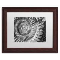 Moises Levy 'Amonita 1' White Matte, Wood Framed Canvas Wall Art