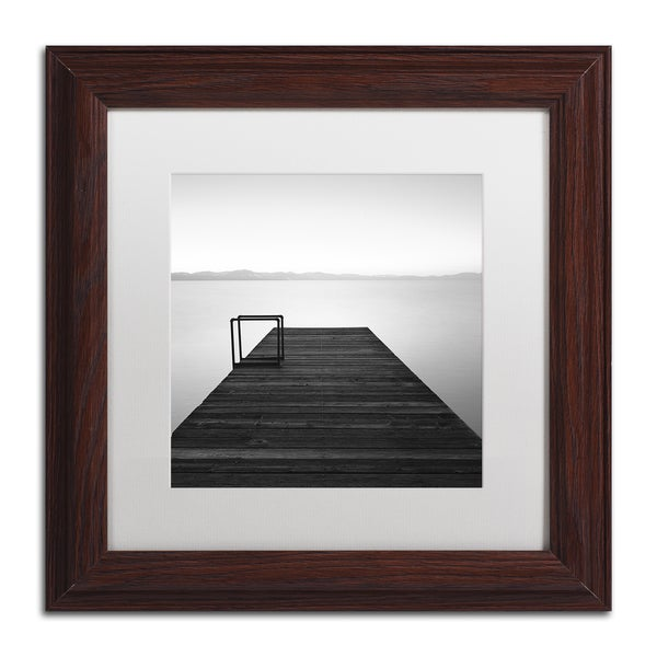 Moises Levy 'Cube' White Matte, Wood Framed Canvas Wall Art