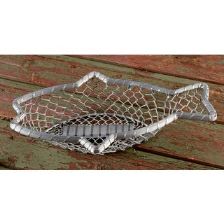 "16"" Chain-Link Metal Fish Basket"