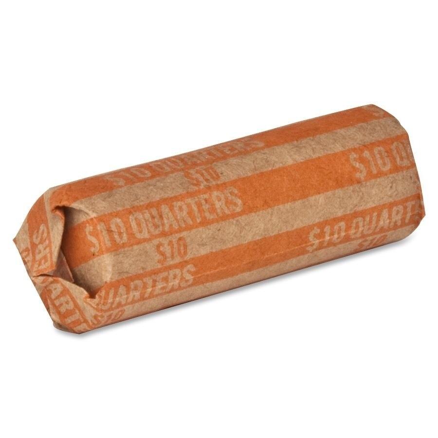 Honeywell Coin Wrapper 60 lb. Quarters 10.00 1000/BX Orange