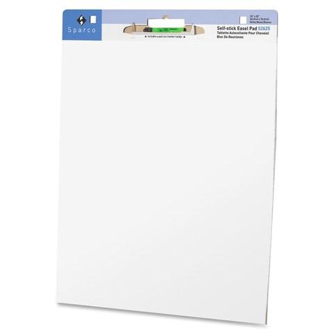 Sparco Plain Self-stick Easel Pad - (2 Per Carton)