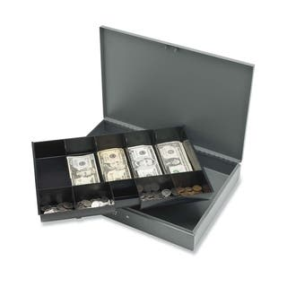 Sparco Cash Box with Tray - (1/Each)|https://ak1.ostkcdn.com/images/products/10794841/P17841855.jpg?impolicy=medium