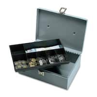 Sparco All-Steel Cash Box with Latch Lock - (1/Each)