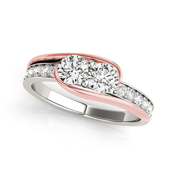 rose gold band rings diamond previous h pave round i bridal cttw bands micro ring wedding