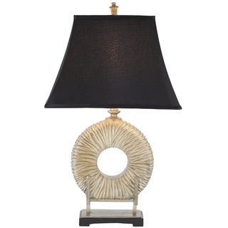 Safavieh Lighting 29.5-inch Gabriella Black Satin Circle Table Lamp