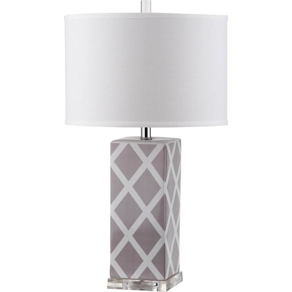 Safavieh Lighting 27-inch Garden Lattice Grey Table Lamp