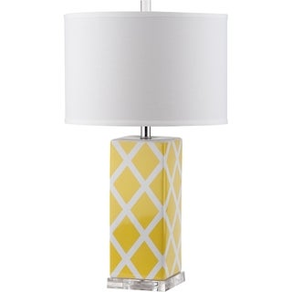 Safavieh Lighting 27-inch Garden Lattice Yellow Table Lamp