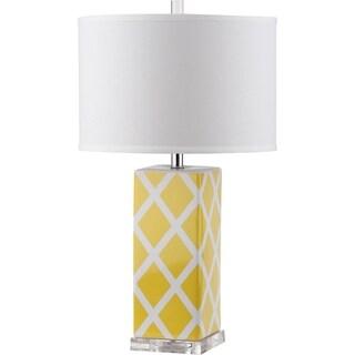 Safavieh Lighting 27-inch Garden Lattice Yellow Table Lamp