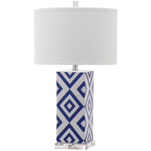 8d4352f1ad90 Shop Safavieh Lighting 27-inch Diamonds Navy Table Lamp - On Sale - Free  Shipping Today - Overstock - 10794962