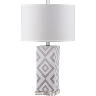 Safavieh Lighting 27-inch Diamonds Grey Table Lamp