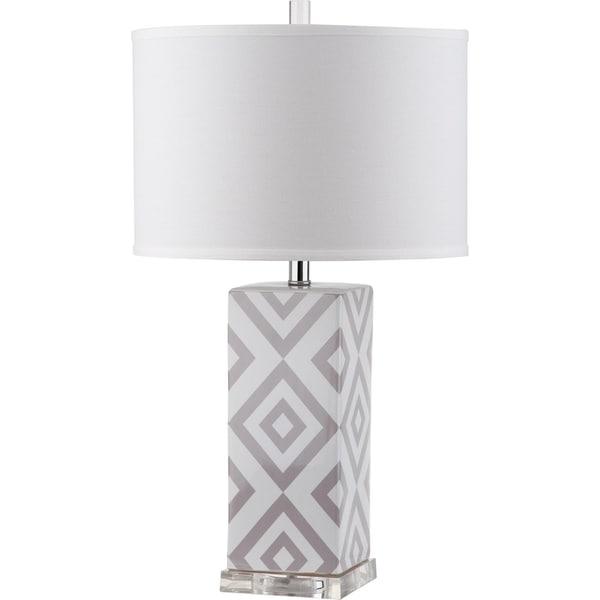 Safavieh Lighting 27-inch Diamonds Grey Table Lamp