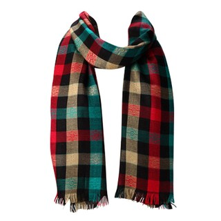 Red, Black & Green Plaid Winter Scarf