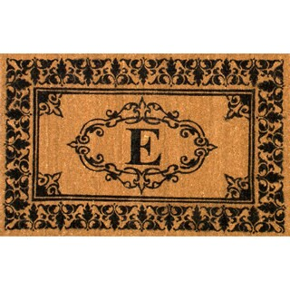 nuLOOM Estate Monogrammed Welcome Letter E Door Mat (3' x 6')