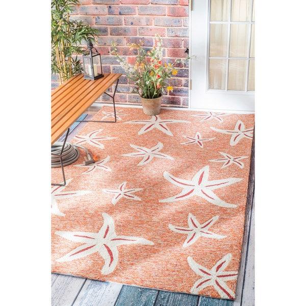 Nuloom Handmade Coastal Starfish Indoor Outdoor Terra Rug