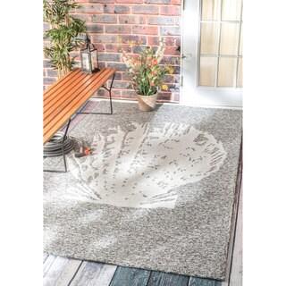 nuLOOM Handmade Coastal Seashell Indoor/ Outdoor Grey Rug (8' x 10')