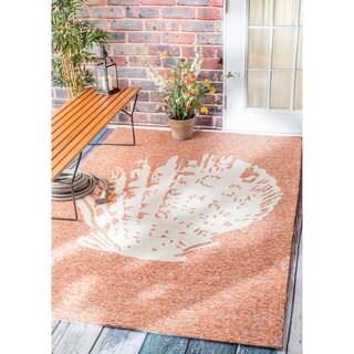 nuLOOM Handmade Coastal Seashell Indoor/ Outdoor Terra Rug (9' x 12')