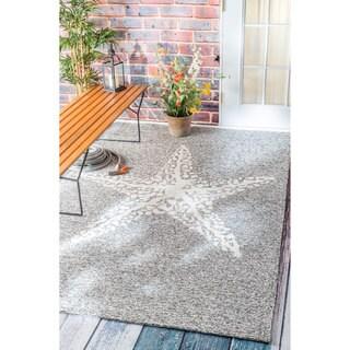 nuLOOM Handmade Coastal Giant Starfish Indoor/ Outdoor Grey Rug (4' x 6')