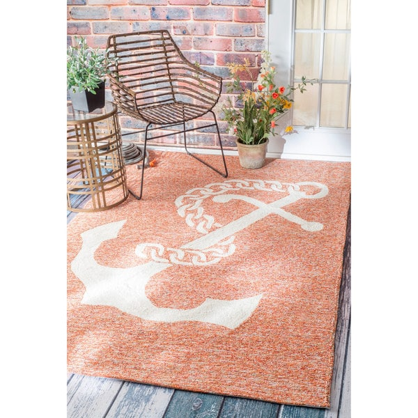 Anchor Rugs: Shop NuLOOM Handmade Nautical Giant Anchor Indoor/ Outdoor