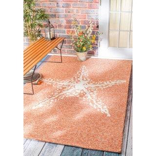nuLOOM Handmade Coastal Giant Starfish Indoor/ Outdoor Terra Rug (8' x 10')