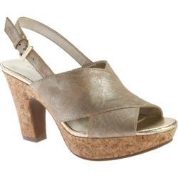 Women's Bandolino Mopina Slingback Sandal Light Gold Synthetic