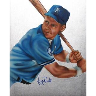 George Brett Autographed Sport Memorabilia Painting by Gary Longordo