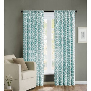 Madison Park Ella Curtain Panel Size 63' in Grey(As Is Item)
