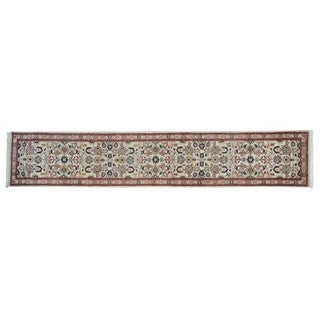 Runner Hand-knotted Wool Kashan Oriental Rug (2'7 x 13'7)